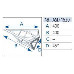 ANGLE 2 DEPARTS 45° LG 40X40 CM