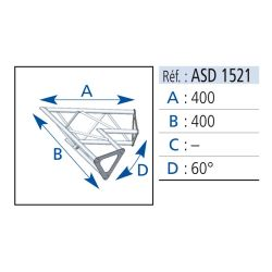 ANGLE 2 DEPARTS 60° LG 40X40 CM