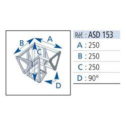 ANGLE 3 DEPARTS PIED 90° 25X25 CM ASD