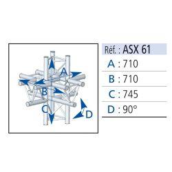 ANGLE 6 DEPARTS 90° PIED LG 0.745X0.71X0.71 M