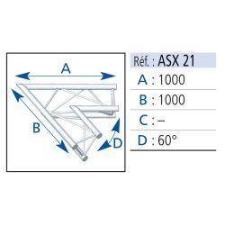 ANGLE 2 DEPARTS 60° LG 1X1 M