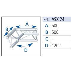 ANGLE 2 DEPARTS 120° 0.50X0.50M SX290 ASD