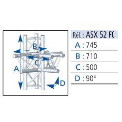 ANGLE 5 DEPARTS 90° PIED LG 0.745X0.50X0.71 M