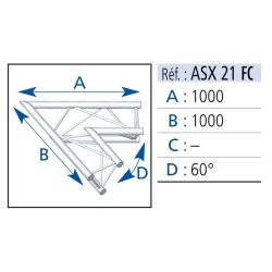 ANGLE 2 DEPARTS 60° 1X1 M
