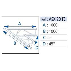 ANGLE 2 DEPARTS 45° 1X1 M