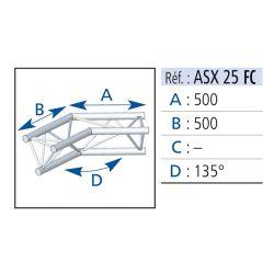 ANGLE 2 DEPARTS 135° LG 0.50X0.50 M