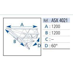 ANGLE 2 DEPARTS 60° LG 1.20X1.20M
