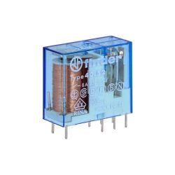 RELAIS ELECTROMAGNETIQUE DPDT 2RT BOBINE 24VCC CONTACT 8A 250VAC (6080)