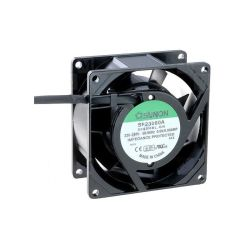 VENTILATEUR 230Vca 0.07A 80x80x38mm 40.7M³/H 32dB (120180)