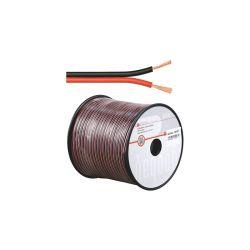 BOBINE 100 METRES CABLE HP 2X0.5mm² OFC ROUGE / NOIR