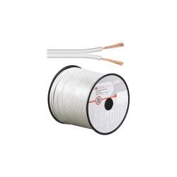 BOBINE 100 METRES CABLE HP 2X0.5mm² OFC BLANC