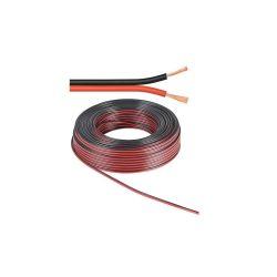 BOBINE 10 METRES CABLE HP 2X0.5mm² OFC ROUGE / NOIR (120180)
