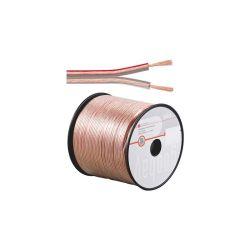 BOBINE 100 METRES CABLE HP 2X0.5mm² OFC TRANSPARENT