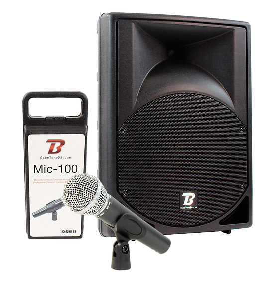 Pack Enceintes BoomTone DJ - MS12A MP3 + MIC100