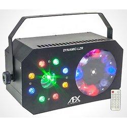 JEUX DE LUMIERE A LED 3-EN-1 : GOBO, WASH / STROBOSCOPE, LASER AFX