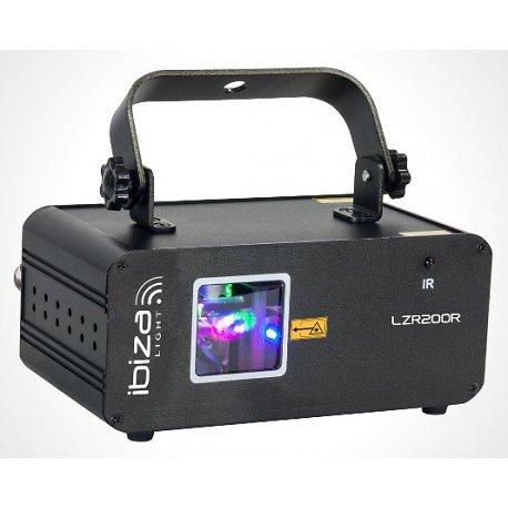 LASER RGB MULTIPOINTS 200mW MODE MUSIQUE, AUTO, DMX, TELECOMMANDE IBIZA