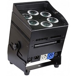 PROJECTEUR LED 6X10W RGBWA SUR BATTERIE JBSYSTEMS