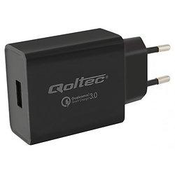 CHARGEUR USB 230 Vca > 5 Vcc USB 3000mA/3A 15W QOLTEC
