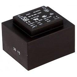 TRANSFORMATEUR MOULE ENTREE 230VAC SORTIE 2X12VAC 2X0.417mA 10VA (80120)