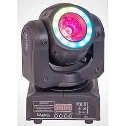 LYRE BEAM 2-EN-1 A LED 40W AVEC ANNEAU D'ANIMATION WASH & CONTROLE DMX IBIZA