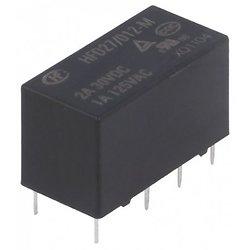 RELAIS ELECTROMAGNETIQUE 2RT DPDT BOBINE 12VCC CONTACT 1A 125VAC (6080)