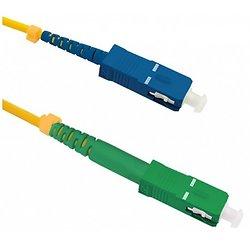 CORDON FIBRE OPTIQUE SC/APC - SC/UPC SINGLEMODE 9/125 G652D SIMPLEX 2 METRES