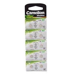 10 PILES BOUTON ALCALINE POUR MONTRE 1.5V-13mAh LR621 /AG1 CAMELION