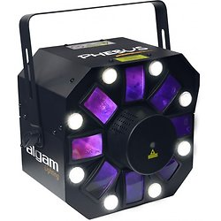 EFFET LED 8 TETES ROTATIVES MULTIFONCTION