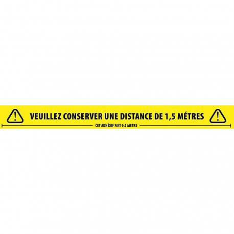 BANDE ADHESIVE DE DISTANCIATION SOCIALE 50mm X 66 METRES