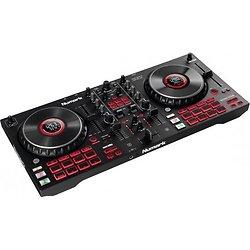 CONTROLEUR DJ 4 VOIES NOIR CARTE SON + 16 PADS
