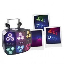 EFFET A LED 18 FAISCEAUX RGBW/UV 8W
