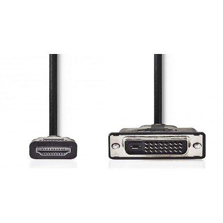 CORDON HDMI MALE / DVI-D 24+1 MALE 2 METRES NOIR