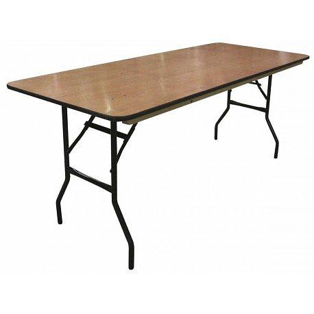 TABLE PLIANTE BOIS 183X76CM