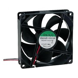 VENTILATEUR 24Vcc 60mA 2.1W 92X92X25mm 87.5m3/h 34dB 3000RPM (120180)