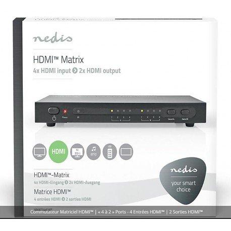 COMMUTATEUR MATRICIEL HDMI 4 ENTREES / 2 SORTIES 4K2K 3D
