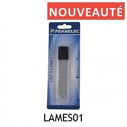 LOT DE 5 LAMES DE CUTTER 18 mm
