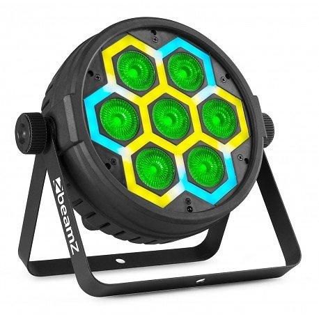 PAR À LED 7 X 10 W 4-EN-1 RGBW + 60 LED
