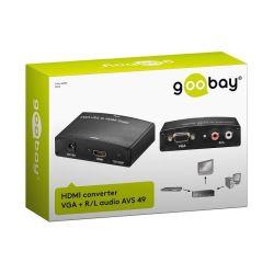 CONVERTISSEUR VGA + AUDIO VERS HDMI GOOBAY