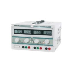 DOUBLE ALIMENTATION LABO 0 A 30V ET 5V DE 0 A 3A - 4 AFFICHEURS LCD