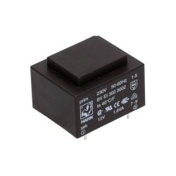 TRANSFORMATEUR MOULE ENTREE 230VAC SORTIE 12VAC 0.15A 1.8VA (80120)