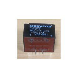 TRANSFORMATEUR MOULE ENTREE : 220V SORTIE : 1X15V 3,3VA 1X0,22A 42x36x29mm