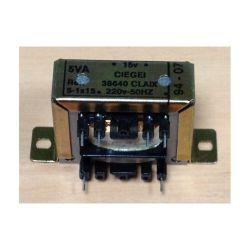 TRANSFO CHASSIS ENTREE : 220V SORTIE : 1X15V 5VA 0,33A 44x32x36mm (80120)