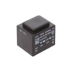 TRANSFORMATEUR MOULE ENTREE 230VAC SORTIE 18VAC 0.167A 3VA (80120)