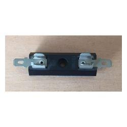 PORTE FUSIBLE PRO 5X32mm 10A 500V SORTIES COSSES PLATES 4,8mm (6080)