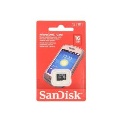 CARTE MEMOIRE MICRO SD HC 16GB CLASS 4 SANDISK