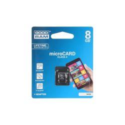 CARTE MEMOIRE MICRO SDHC 8GB CLASS4 + ADAPTATEUR GOODRAM
