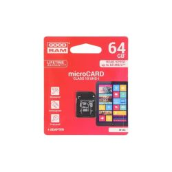 CARTE MEMOIRE SD XC MICRO 64GB + ADAPTATEUR LECTURE 60MB/S ECRITURE 10MB/S