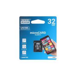 CARTE MEMOIRE MICRO SDHC 32GB CLASS4 + ADAPTATEUR GOODRAM