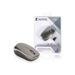 SOURIS SANS FIL USB OPTIQUE 1600 DPI GRISE KONIG
