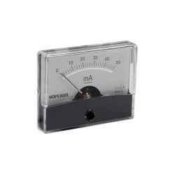 AMPEREMETRE ANALOGIQUE DE TABLEAU 50mA CC / 60X47mm (100150)
